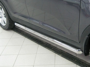 Mitsubishi Pajero Sport 2010  пороги труба d76 (вариант 1) PST-0009261